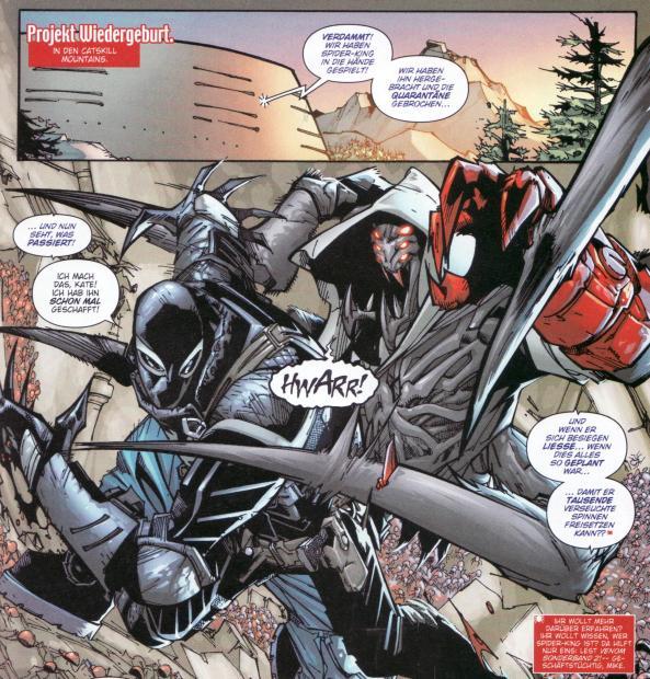 Flash hat auch so seine Probleme mit der Spinnenbrut.