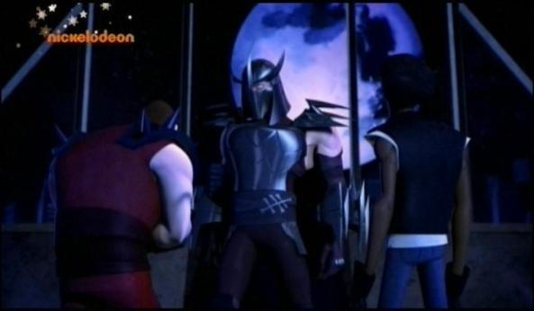 Shredder zusammen mit Chris Bradford und Xever.