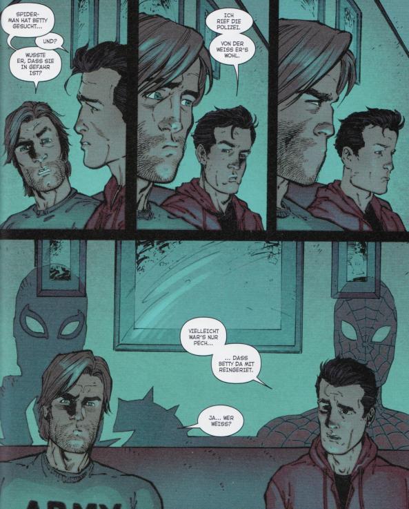 Flash und Peter unwissend über ihre Alter Egos in friedvoller Zweisamkeit.