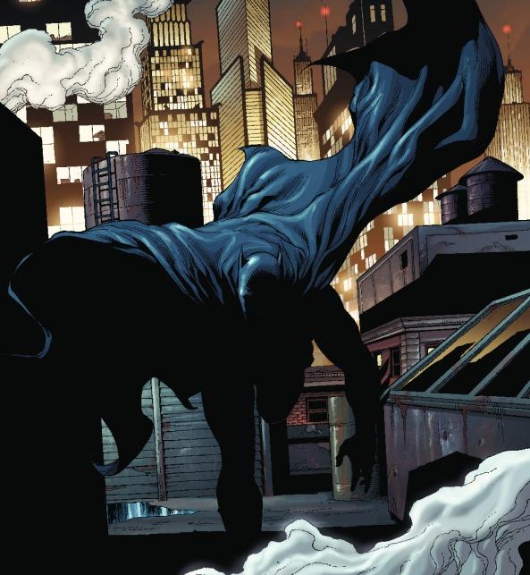 Batman auf seinen Streifzügen durch die Nacht.