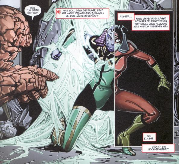 Ben erkennt Spider-Woman nicht.