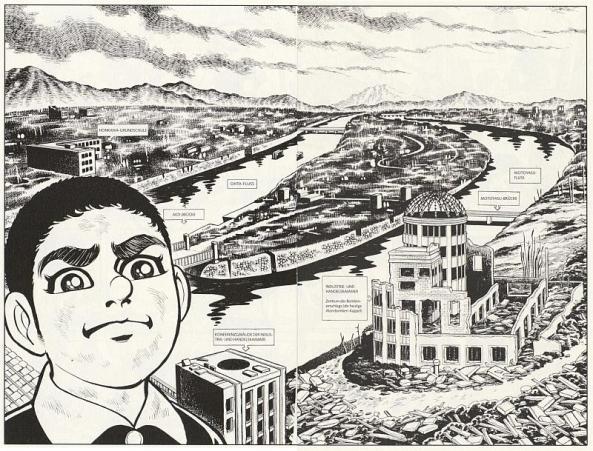Hiroshima nach dem Abwurf von Little Boy.