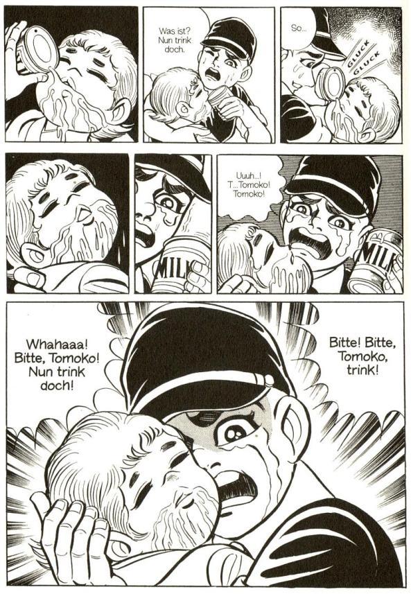 Auch Milch kann die kleine Tomoko nicht retten.