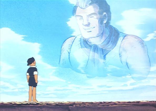 Gen schwört seinem Vater, dass er kämpfen und leben wird.