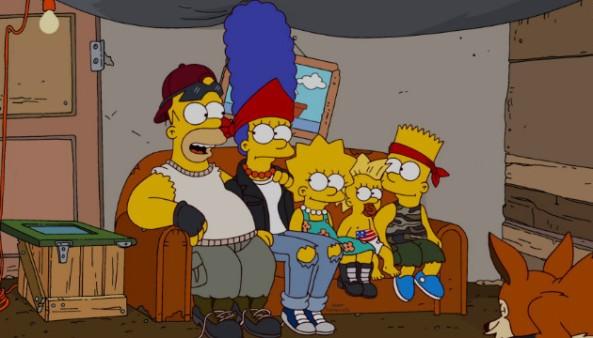 Auch in Outland schauen die Simpsons Fox.