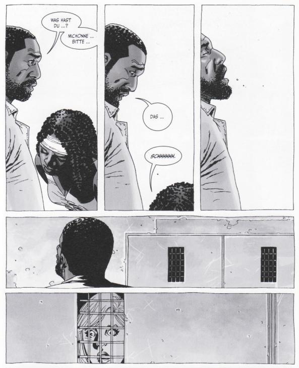 Michonne mischt die Gruppe auf.