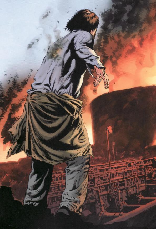 Donald Elbert lebt endlich seine Neigung zum Feuer unkontrolliert aus.
