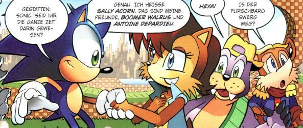 Sonic und seine neuen Freunde.