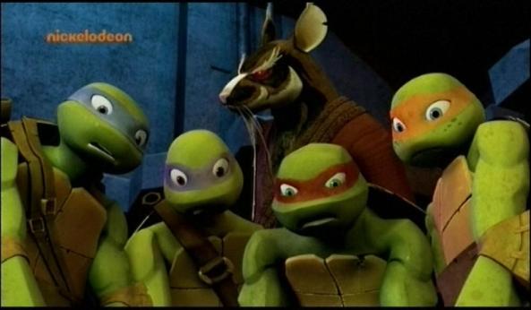 Die Turtles in Gefahr. Und diese hört auf den Namen Splinter!