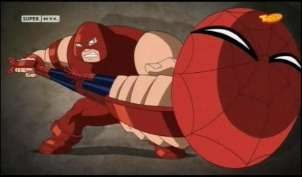 Spidey gegen Juggernaut.