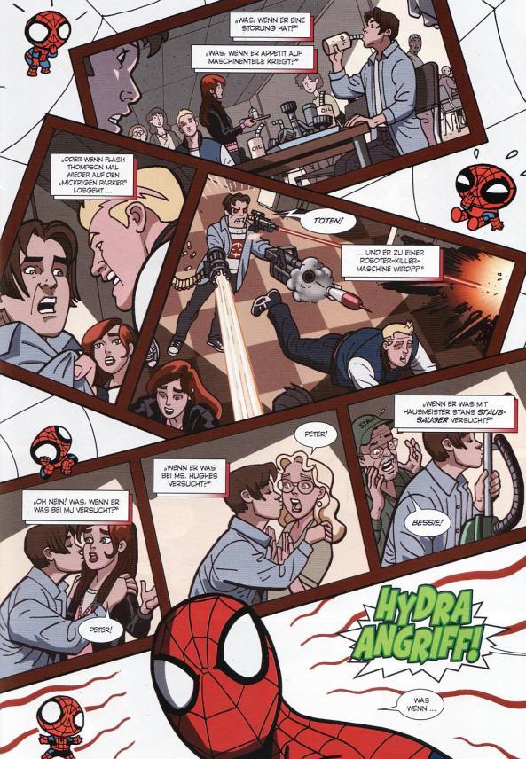 Chaos ohne Ende vor dem geistigen Auge von Peter Parker!
