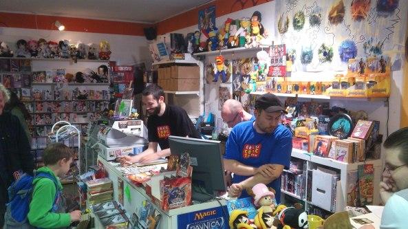 Das Team vom Comic Attack bei der Arbeit.