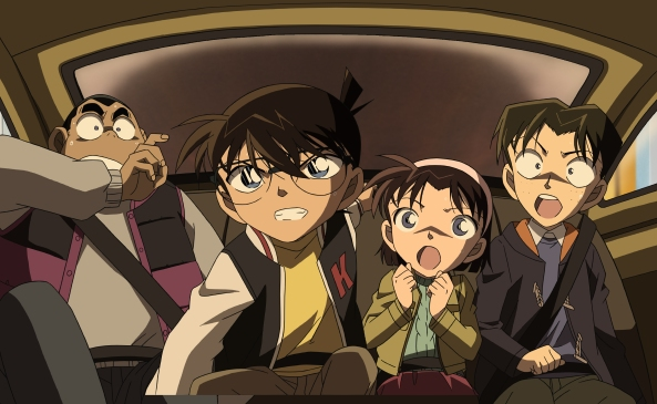 Conan und die Detective Boys in Alarmbereitschaft.