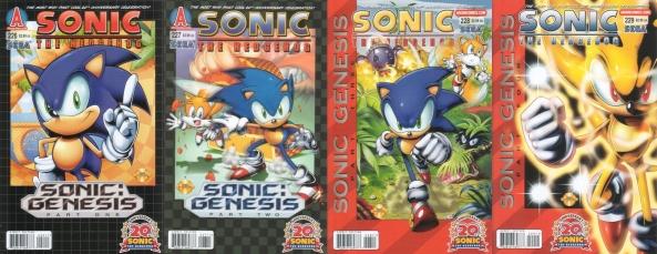 Die vier Cover der vier US-Ausgaben.