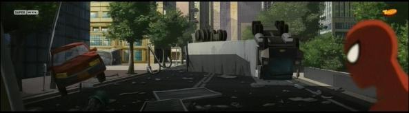 So sieht es eben aus, wenn Spider-Man Schurken jagt.