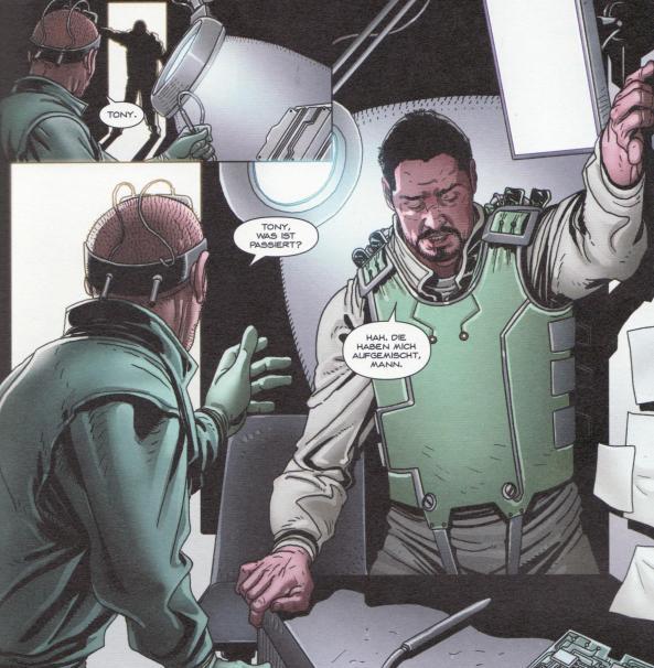 Wie in alten Zeiten. Tony entwickelt Waffen in der Gefangenschaft.