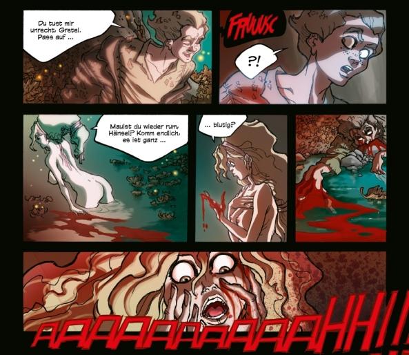 Hänsel und Gretel beim Nacktbaden. (Bild aus Original-Album #3)