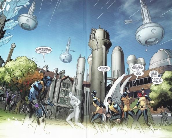 Und die klassischen X-Men in der Gegenwart.
