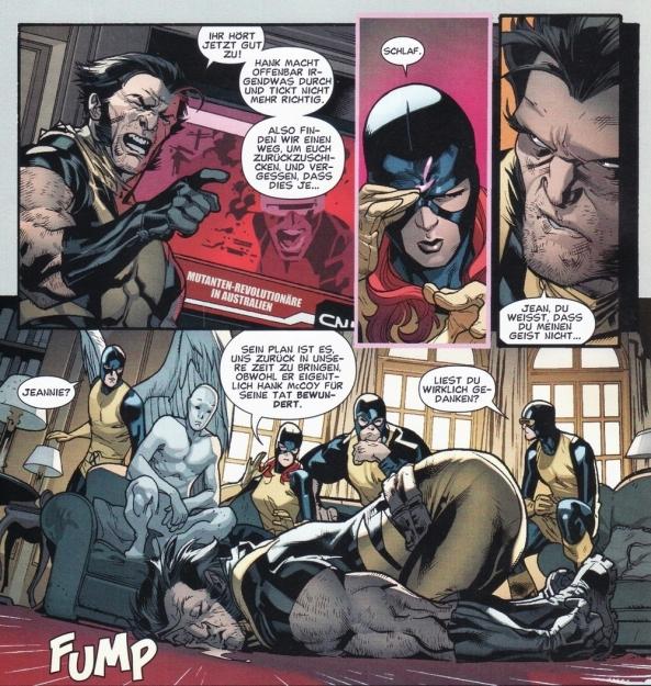 Auch die junge Jean hat Logan schon voll im Griff.