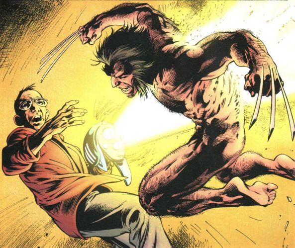 Wolverine greift an.