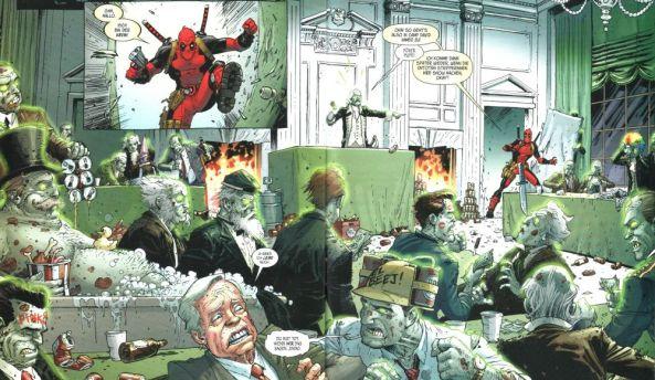 Echt abgedreht. Deadpool gegen Zombiepräsidenten.