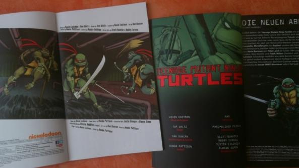 Der deutschen Fassung wurde ein Editoral spendiert (links: US, rechts: DT)