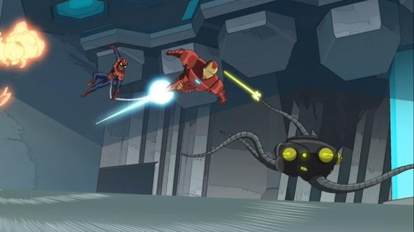 Ein Octobot ist bei Tony Stark eingebrochen.