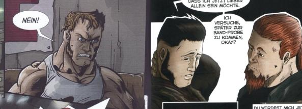 Jackie von Seite 2 (links) und von Seite 16 mit seinem Freund (rechts).