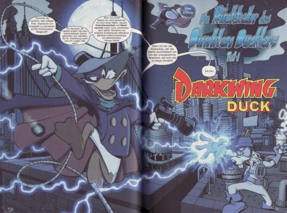 Der dunkle Duckler kehrt zurück. Hier in einer Anspielung auf den dunklen Ritter, Batman.