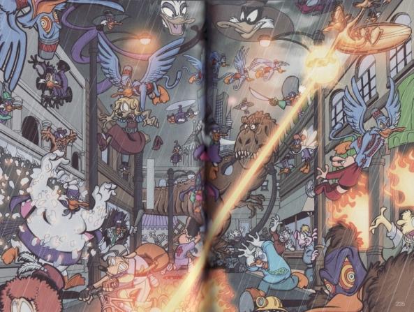 In einer Geschichte tauchen Darkwings aus vielen Realitäten auf. Manche davon haben Ähnlichkeiten mit Superhelden und -schurken von bekannten anderen Verlagen.