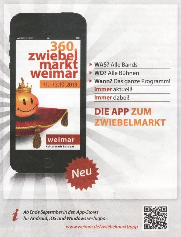 Werbung für die App.