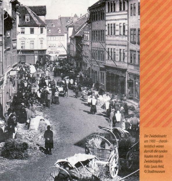 Der klassische Zwiebelmarkt um 1900. (Foto: Louis Held, © Stadtmuseum)