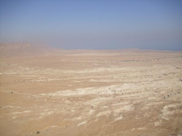 Die Aussicht vom Berg Masada
