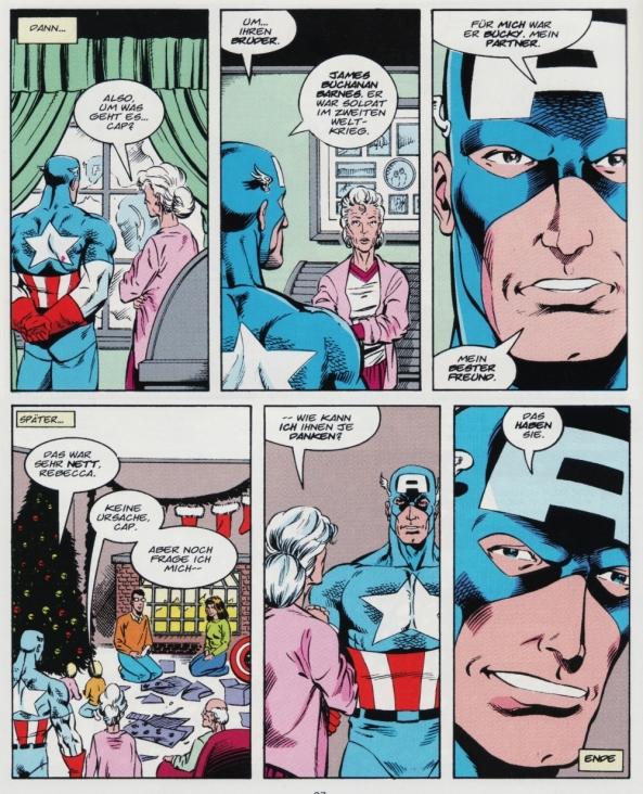 Captain America im Kreise der Familie von Buckys Schwester.