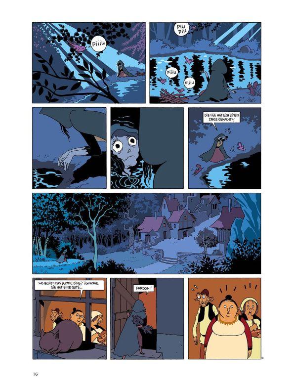 Eine seltsame Begegnung im Wald bei Nacht.