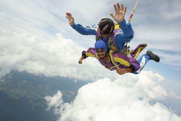 Tandem Fallschirm springen