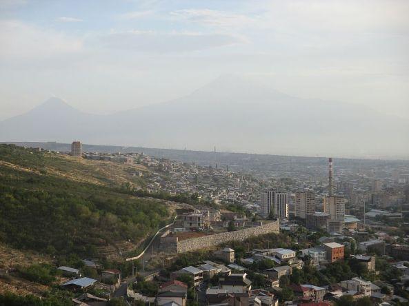 Der Blick auf den Ararat aus Jerewan
