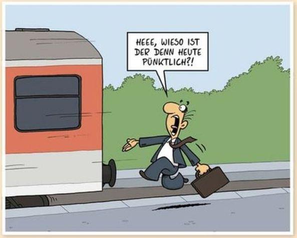 Der Zug ist pünktlich.