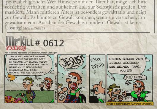 015Mr Kill Zeitungsfunny # 612