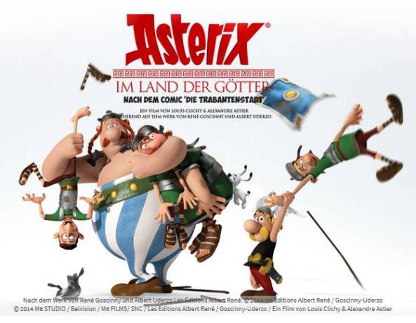 Asterix im Land der Götter Banner