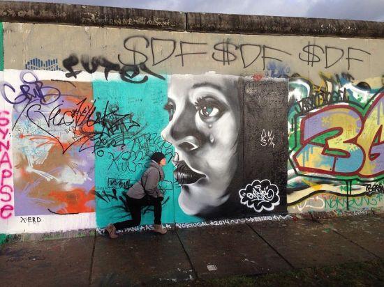 An der Berliner Mauer unterwegs