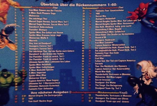 Infozettel für Abonnenten (Rückseite)