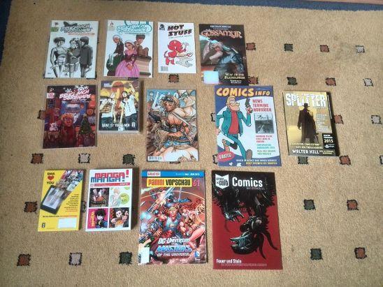Meine Comic Lieferung im April 2015