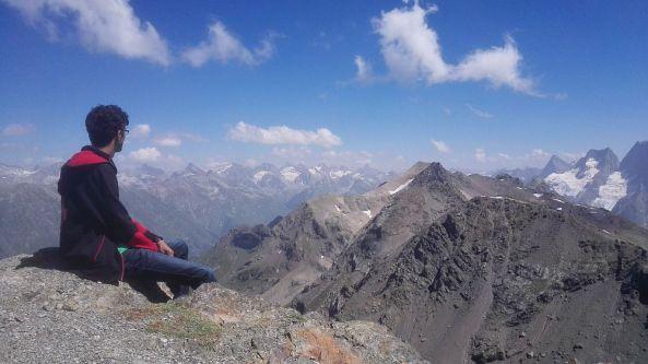In Dombai über 3000 Meter Höhe.