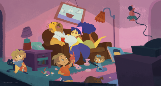 the_simpsons_by_nna