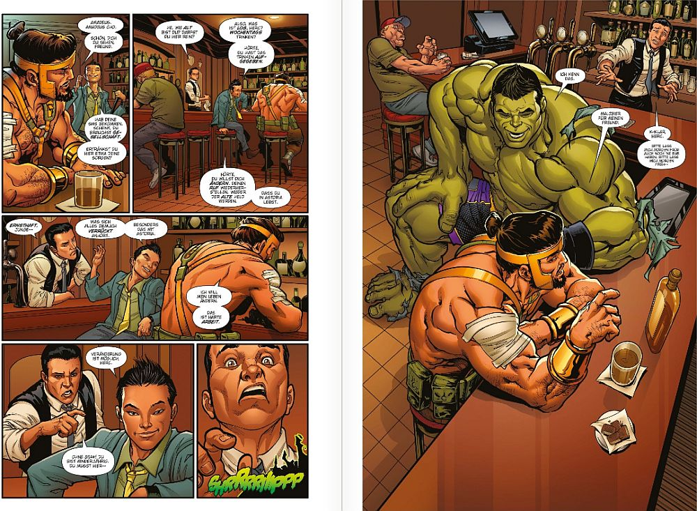 Hercules und Amadeus Cho in der Bar.
