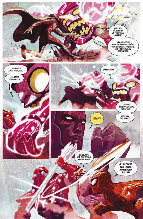 Die Avengers kämpfen gegen Kang.