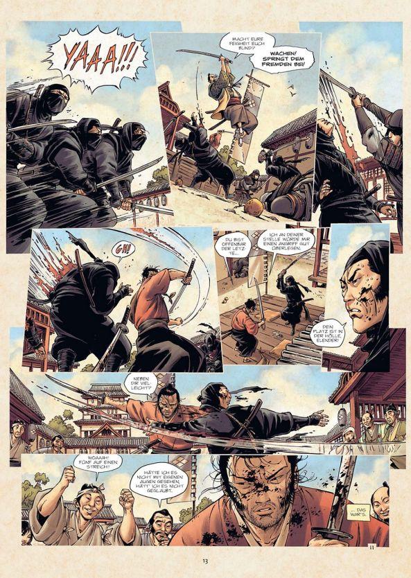 Takeo zeigt es den Ninja's ...