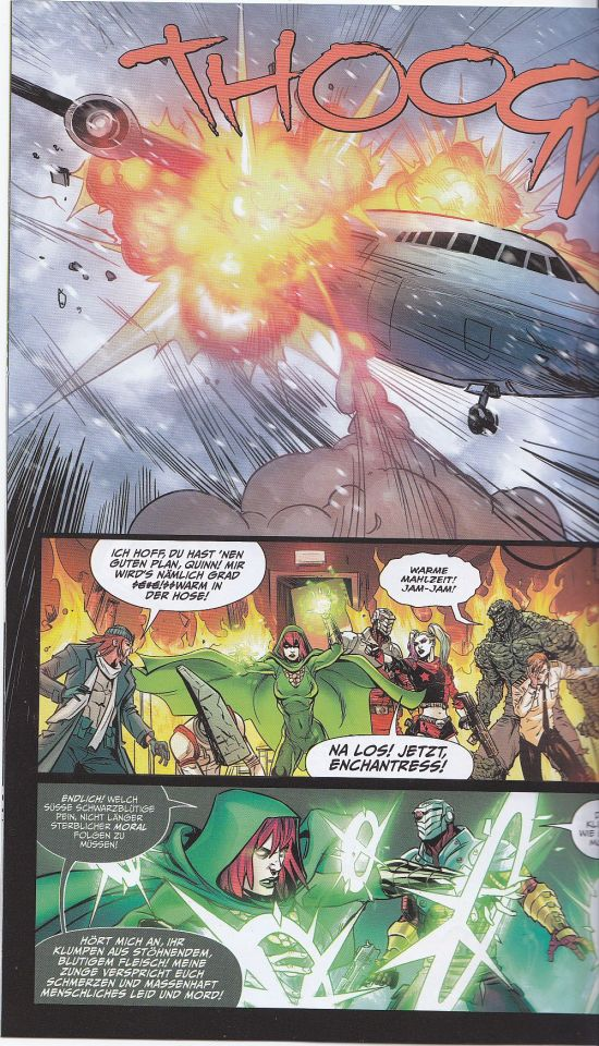 Enchantress rettet das Flugzeug ...