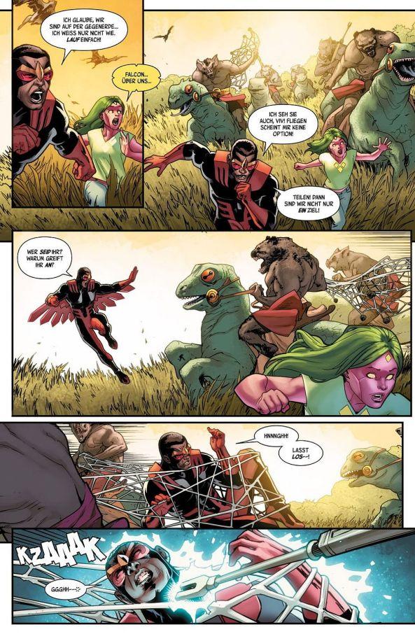 Viv und Falcon müssen vor Feinden auf der Gegenerde fliehen ...